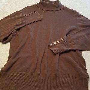 Size 2X Fashion Bug Brown Turtleneck